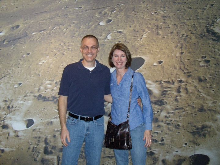 Chris and Karin on the Moon