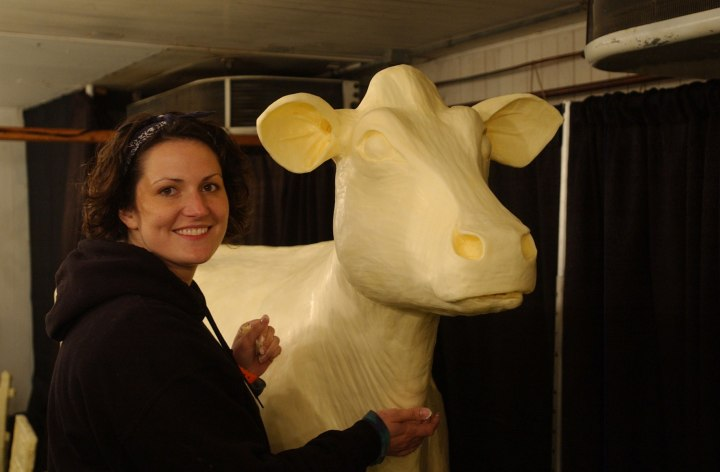 Butter Cow at Iowa State Fair
