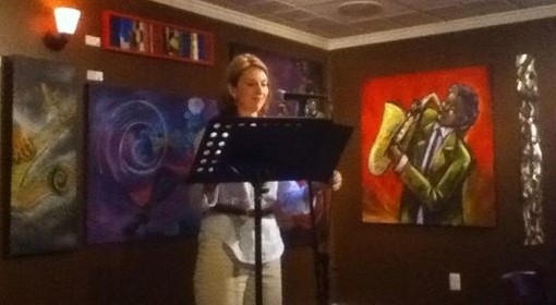 Karin reading at Unvined June 2014